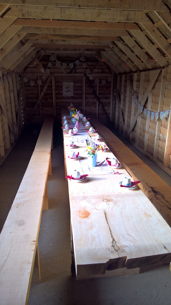 Banquet Room at Hen Party Glamping