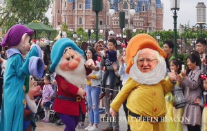 President Higgins frolicking about as usual
