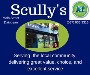 Shop local in Daingean at Scully's shop