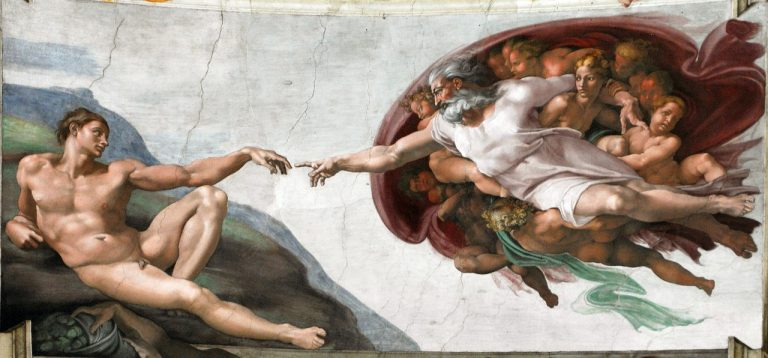 Fresco painting by Michelangelo