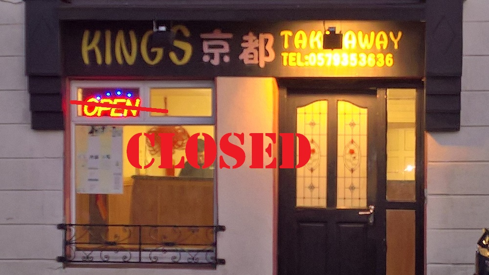 Kings – Chinese Takeaway, Daingean